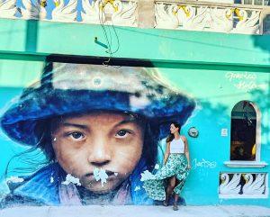 muurschildering in isla holbox